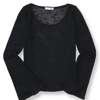 Long Sleeve Solid Bell Cuff Top