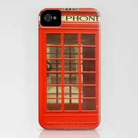 Red Telephone Box  iPhone Case by Laura Ruth  | Society6