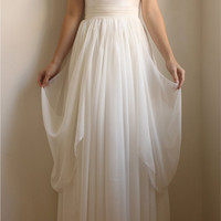 $1,595.00 Velma Silk/Lace Wedding Gown with Cap SleeveETSY by Leanimal