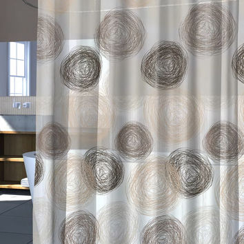 """Brown Coiled Design PEVA Shower Curtain, 70"""" x 72"""""""