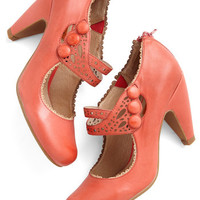 Miz Mooz Vintage Inspired Dance the Day Away Heel in Red