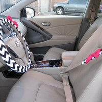 Custom Steering Wheel and Seatbelt Cover with by BeauFleurs
