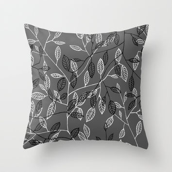 Leaves #1 Throw Pillow by Salted Seven