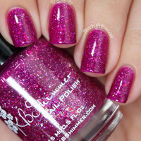It's Razz-ical Red Violet Holographic Jelly Glitter Nail Polish - 0.5 Oz Full Sized Bottle