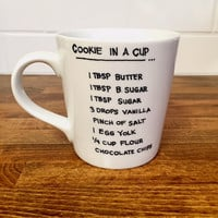 cookie in a cup // personalized coffee mug // unique gift // fun birthday gift // coffee cup // funny mug // hand written mug