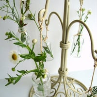 Vintage AntiqueWhite Painted Metal Stand / Hanger  by ThirdShift