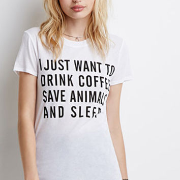Animals and Coffee Graphic Tee