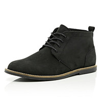River Island MensBlack lace up desert boots