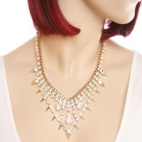 Crystal box necklace set