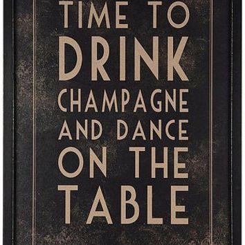 'time to drink champagne' print by the contemporary home   notonthehighstreet.com