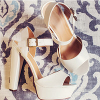 Paige Pumps in White