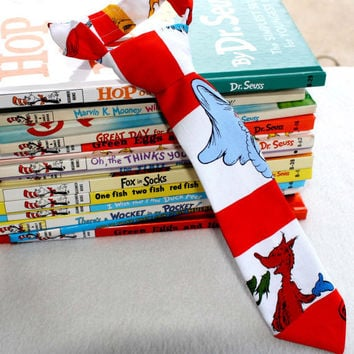 Baby Boy Neck Tie in Dr Seuss assorted by fourtinycousins on Etsy