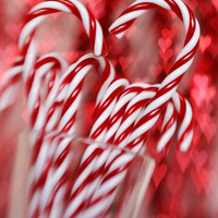Christmas photography candy cane fine art print candy cane photo print still life photo heart decor wall decor red white kitchen art