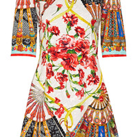 Dolce & Gabbana - Printed matelassé mini dress