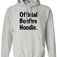 Official BONFIRE HOODIE Funny Printed Graphic s'mores camping camp Bonfire Hoodie Great For Parties Lots Of Laughs ML-392