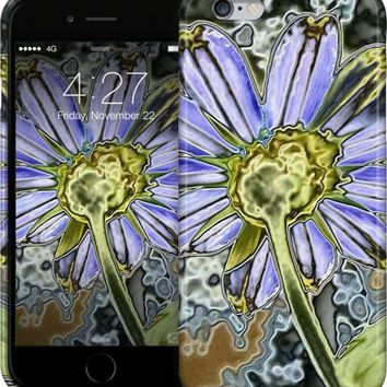 Purple Glow Daisy iPhone Cases & Skins by Kelly Cavender | Nuvango