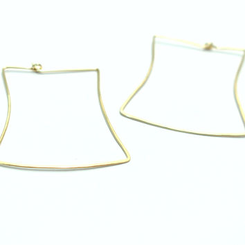 Square Silhouette Hoops