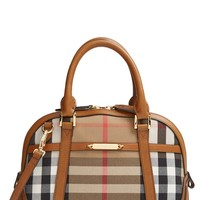 Burberry 'Small Orchard' House Check & Leather Satchel | Nordstrom