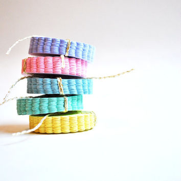 """Scalloped Tags - Pastel Colored - 1 1/16"""" Medium Scalloped Circle Tags - Baby Shower Favor Tags  - Set of 30"""