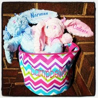 Monogrammed Plush Bunnies! 3 colors to choose from!
