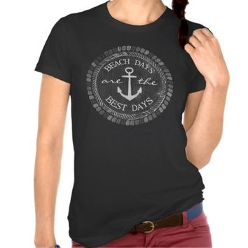 Nautical Best Days Beach Blackboard Top T-Shirt