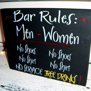 Man Cave BaR sIgN Tiki Bar Pool Bar Rules Men by AndTheSignSays