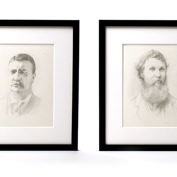The First Conservationists (framed portraits)