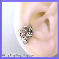 Flower Art Nouveau ear cuff earring jewelry in by RingRingRing