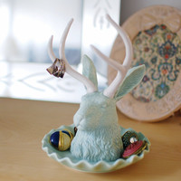 Jackalope Jewelry Holder Assorted Colors design by imm Living