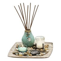 San Miguel Reverie Sea Grass & Lotus Reed Diffuser Garden Set