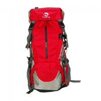 45+5L Heavy Duty Hiking Camping Travel Backpack Bag Red - Default