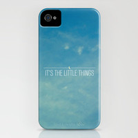 It's The Little Things iPhone Case by Galaxy Eyes | Society6
