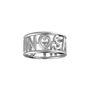 Sterling Silver Tube Style Cut-Out Name Band