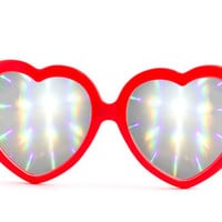 The Heartz - Red by Eye Love Shadez | Eye Love Shadez Rave and Diffraction Glasses