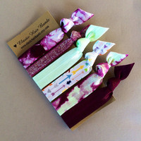 The Janelle Hair Tie Ponytail Holder Collection by Elastic Hair Bandz on Etsy