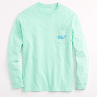 Long-Sleeve Whale Fish Pocket T-Shirt