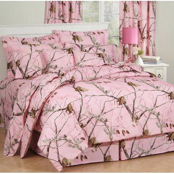 Realtree Bedding Camo Bedding Collection in Pink