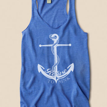 Anchor Tank Refuse To Sink Organic Racerback Top