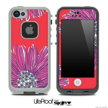 Abstract Pink and Red Floral Skin for the iPhone by TheSkinDudes