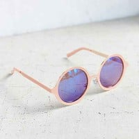 Painted Metal Round Sunglasses-