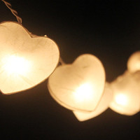 20 LED White hearts -  Paper Lantern String Lights for Home Decoration,Wedding,Party,Bedroom,Patio and Decoration