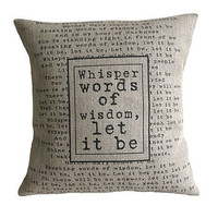 Personalised Lyrics Cushion
