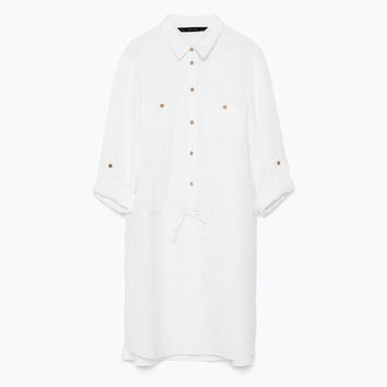 TUNIC WITH SHIRT-STYLE COLLAR New