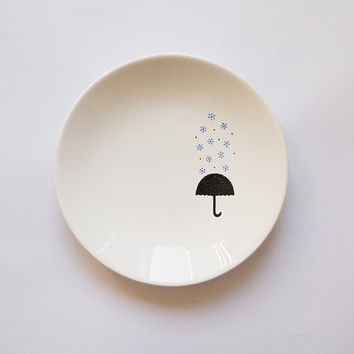 Blue rain candy dish by ZuppaAtelier on Etsy