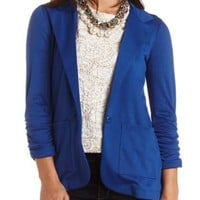 Single Button Boyfriend Blazer by Charlotte Russe