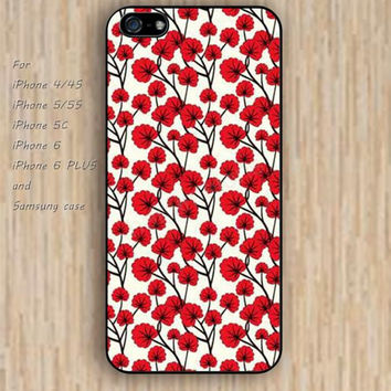 iPhone 5s 6 case colorful flowers rose phone case iphone case,ipod case,samsung galaxy case available plastic rubber case waterproof B284