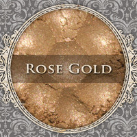 ROSE GOLD Mineral Eyeshadow: 5g Sifter Jar, Light Pink Gold, Mineral Cosmetics, Shimmer Eyeshadow
