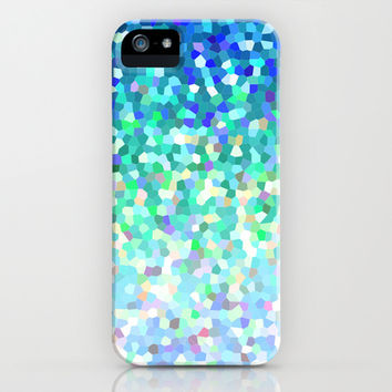 Mosaic Sparkley Texture G149 iPhone & iPod Case by MedusArt