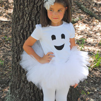 Friendly Ghost Girl Tutu And Shirt Set by Peaceloveandkids