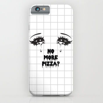 NO MORE PIZZA iPhone & iPod Case by Sara Eshak